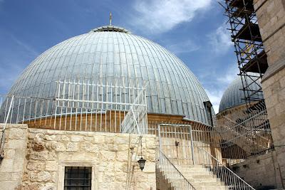 Купол ротонды храма Воскресения