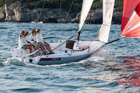 J/70 one-design sailboat- women's sailing team