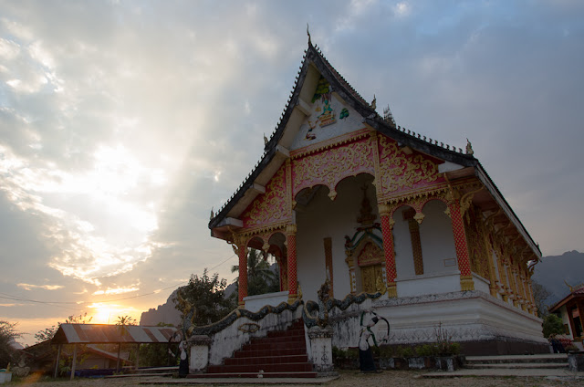 chrám, Vang Vien, Laos