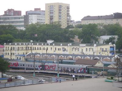 ウラジオストック駅のホーム