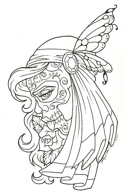 Day Of The Dead Children  Day Of The Dead Coloring Page  Coloring Pages