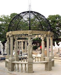 carved stone, Column, Dome, Exterior, Gazebo, Gazebos, Ideas, Landscape Decor, Statue