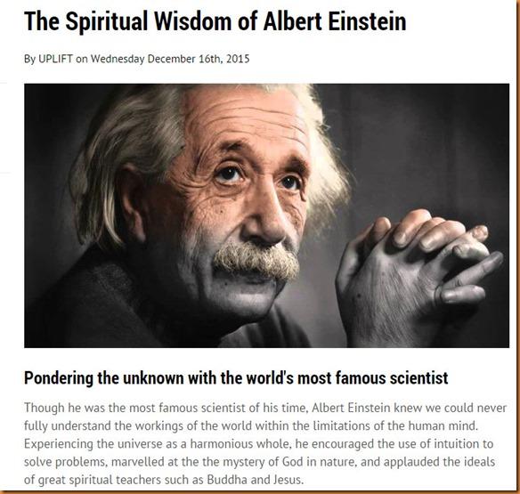 Einstein spiritual