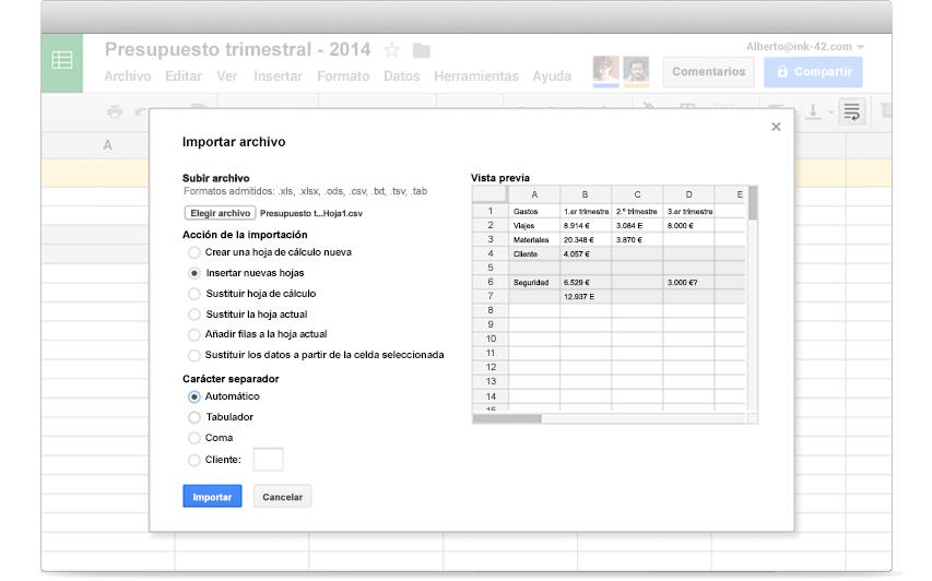 Hojas de cálculo de Google: hojas de cálculo y análisis de datos ...