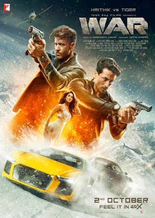 Poster Of Hindi Movie War 2019 Full HD Movie Free Download 720P Watch Online