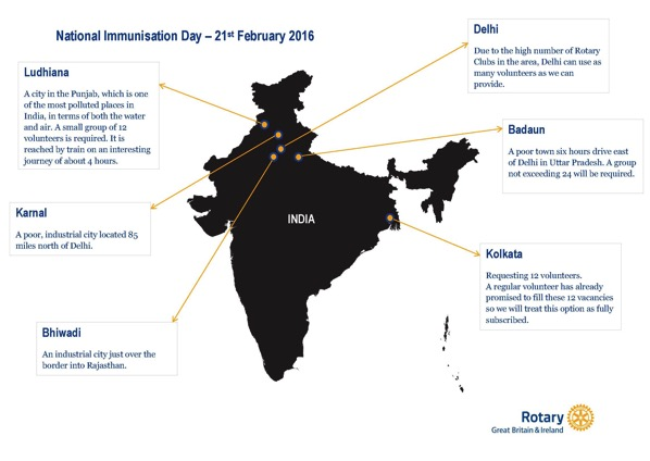 National Immunisation Day Map