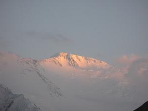 Photo: Lenin peak, sunset, last beam