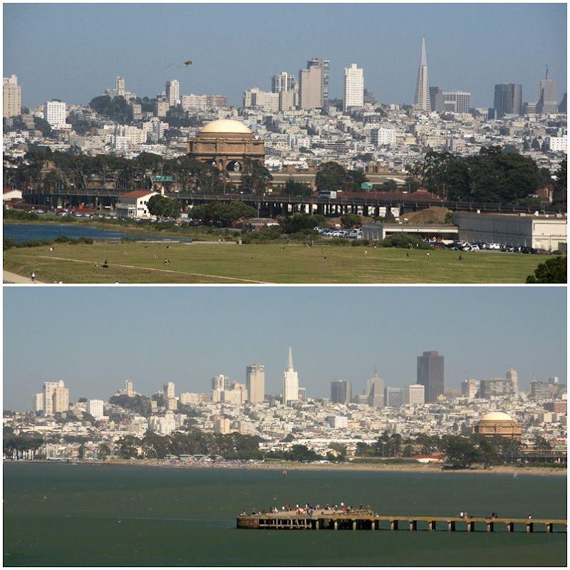 San Francisco: Crissy Fields und der Blick auf die Skyline der Stadt