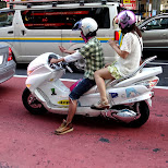 going for a ride on an interesting scooter in Tokyo, Tokyo, Japan