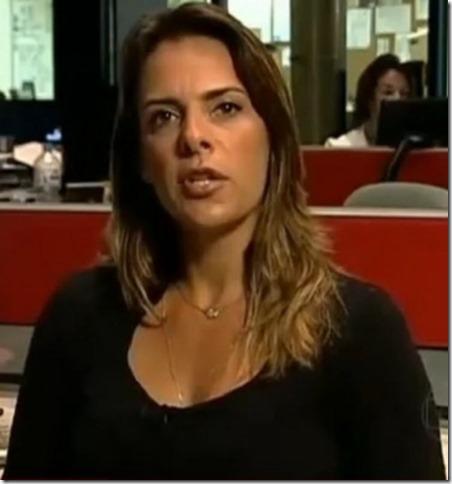 Flávia Januzzi, jornalista da Rede Globo