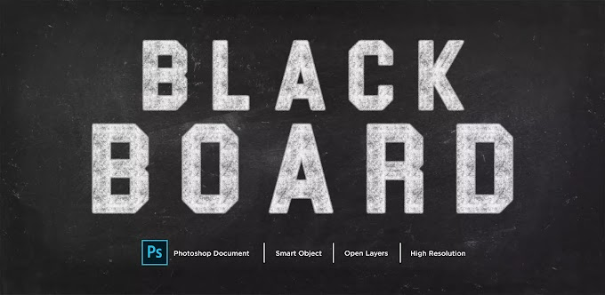 BlackBoard Text Effect PSD
