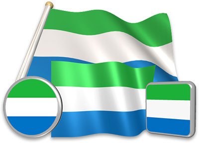 Sierra Leonean flag animated gif collection
