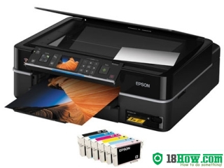 How to reset flashing lights for Epson TX700W printer