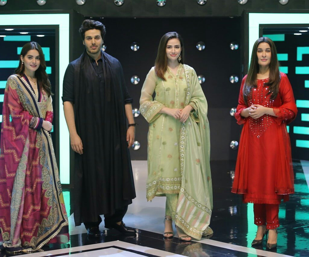 Aiman Khan, Sana Javed, Shaista Lodhi and Ahsan Khan Awesome Pictues from Jeeto Pakistan League