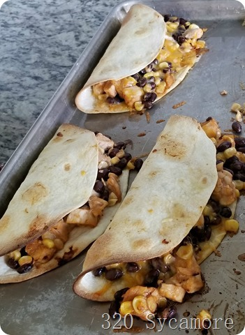 fast east chicken cowboy quesadillas