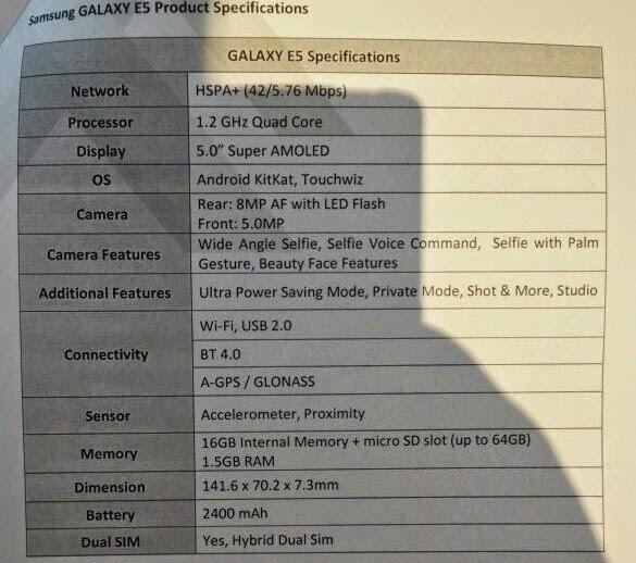 Samsung giới thiệu bộ đôi Galaxy E5 và E7