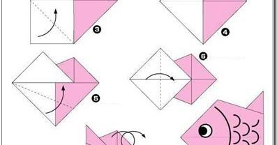 diagrama pez en origami