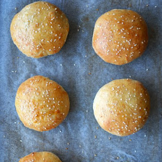 Easy Homemade Parmesan Hamburger Buns