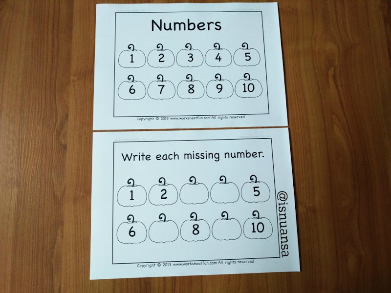 write missing number