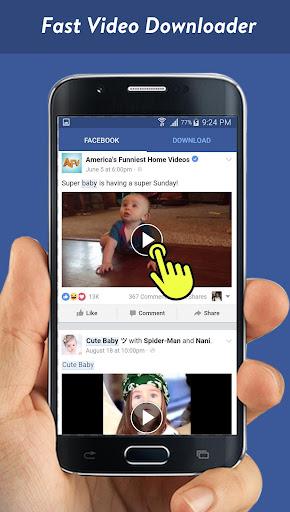Faster Video Downloader for Facebook screenshots 1