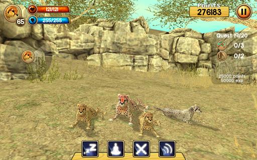 Wild Cheetah Sim 3D apkpoly screenshots 13