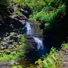 Bridesmaid's Falls by Santford Overton - Landscapes Waterscapes ( landscapes, mountains, waterscapes, leaves, light, longexposure, hills, river, trees, water, colors,  )