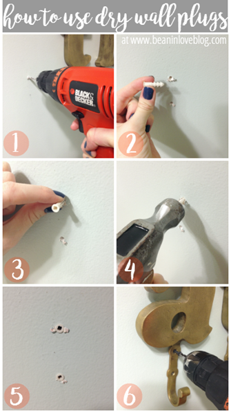 how to use dry wall plugs