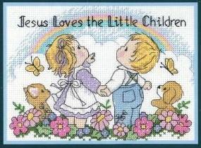 Jesus Loves cross stitch patterncross stitch pattern