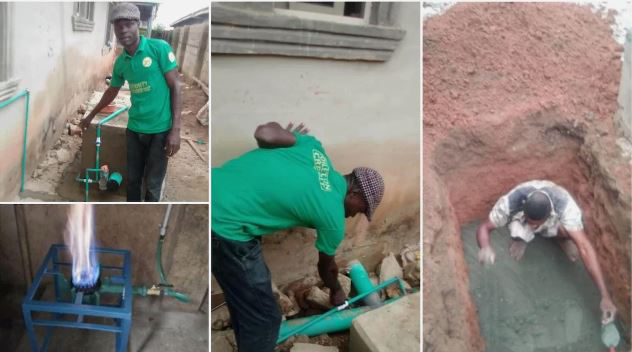 Nigerian Man Builds Soakaway That Can Generate Gas For Cooking And Electricity (Photos)