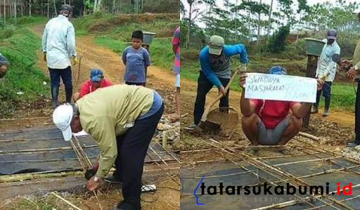 Jalan Jampang Tengah - Purabaya Rusak Masyarakat Swadaya Perbaiki