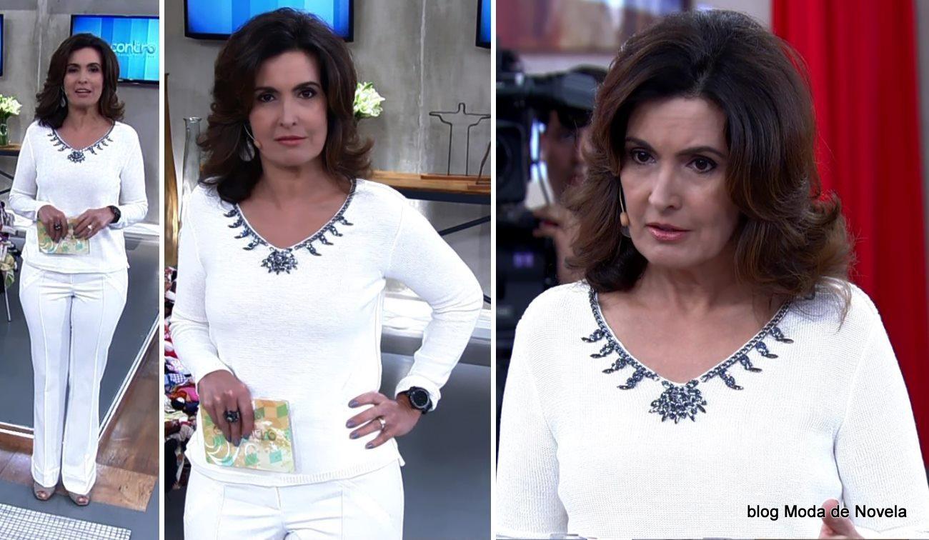 moda do programa Encontro - look da Fátima Bernardes dia 5 de maio