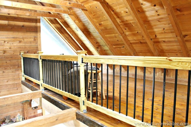 Loft and Railing After Renovations