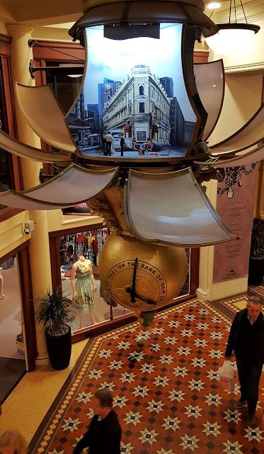Wellington's Old Bank Arcade animated, musical clock