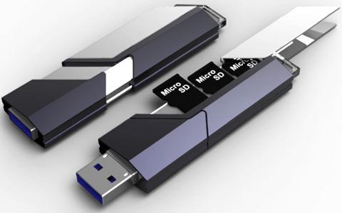 USB stick koji ugošćuje MicroSD memorijske kartice