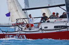 J/111 one-design sailboat- sailing North Americans Chicago