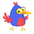 Cartoon Funny Bird Illustration Free Download Vector CDR, AI, EPS and PNG Formats
