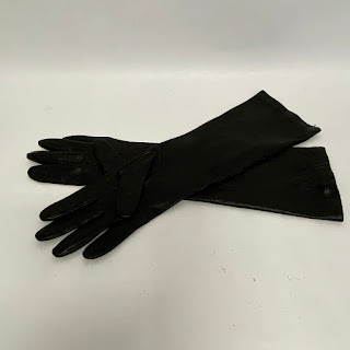 Lord & Taylor Black Leather Gloves