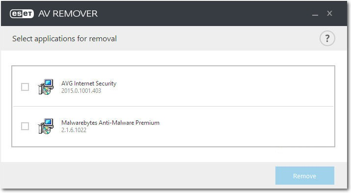 av remover for removing any security programs