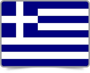 Greek framed flag icons with box shadow