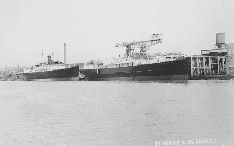 CAVALIER y QUAQUER construidos para Philadelphia and Norfolk S.S. Co. Pusey and Jones Corporation Photograph Collection.png