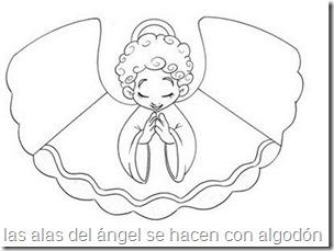angel con alas de algodon