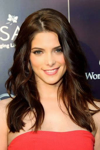 Ashley Greene long black hairstyles