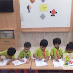 Introduction to Diamond Shape by Nursery Afternoon Section at Witty World, Chikoowadi (2017-18)