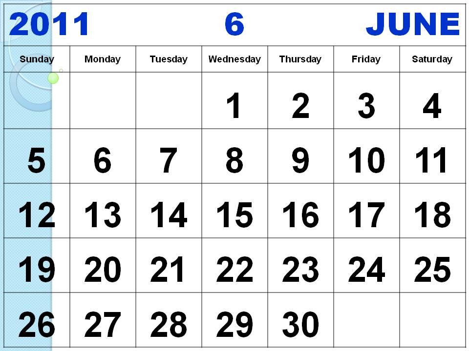 june 2011 calendar. june 2011 calendar template.
