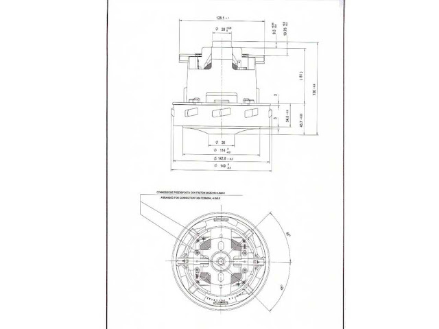 Motore aspiraliquidi Alfatec, Imetec Karcher 1200W PM65