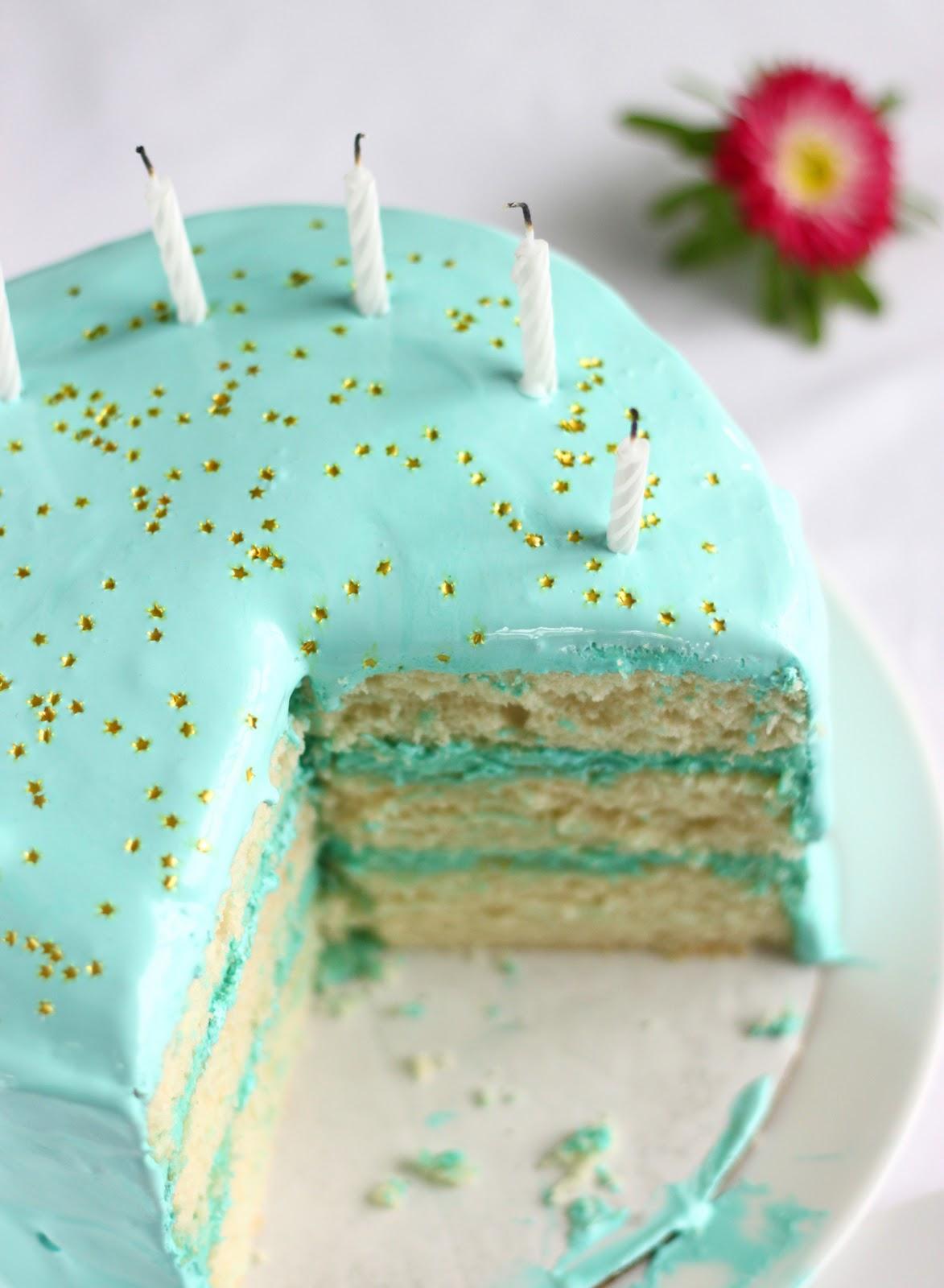 Birthday Cake With Cilantro