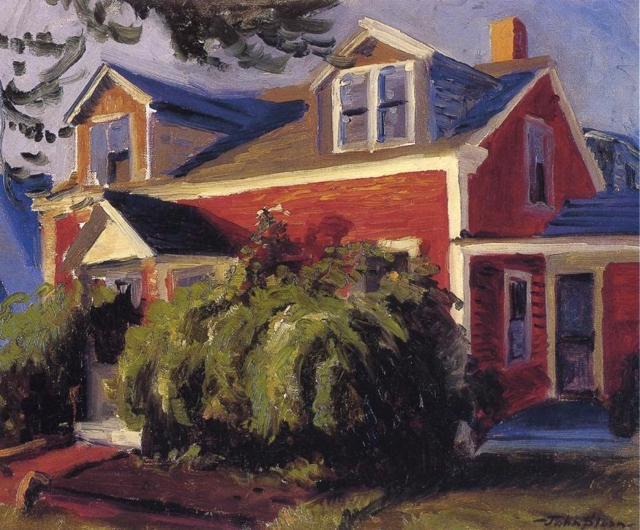 John Sloan - Our Red Cottage, Gloucester
