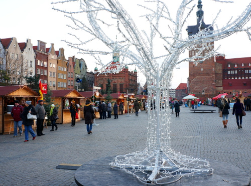 Gdansk  Christmas fair on Targ Weglowy