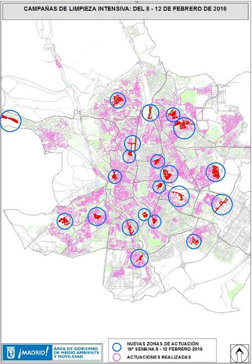 Limpiezas intensivas en 21 barrios del 8 al 12 de de enero