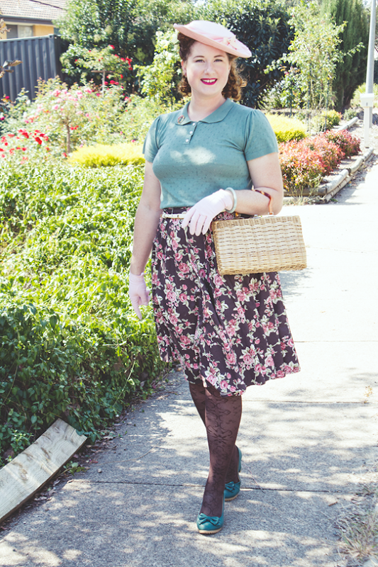 1940s vintage ensemble for Easter | Lavender & Twill